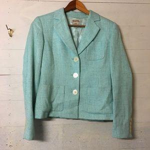 MICHAEL Michael Kors Tweed Mint Green Blazer